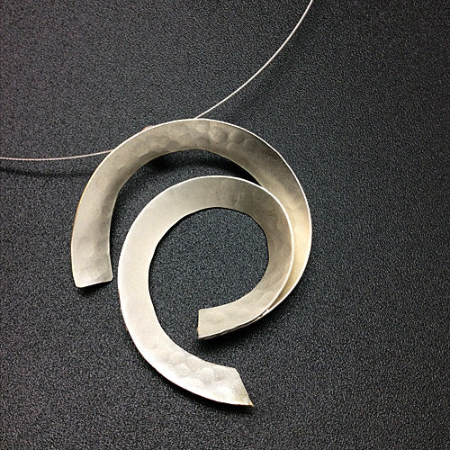 Silver Matte Necklace