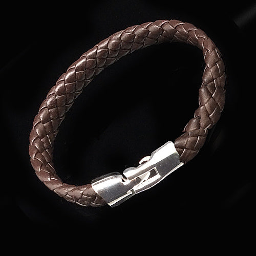 Brown Leather Wristband For Dad. - Nurit Niskala