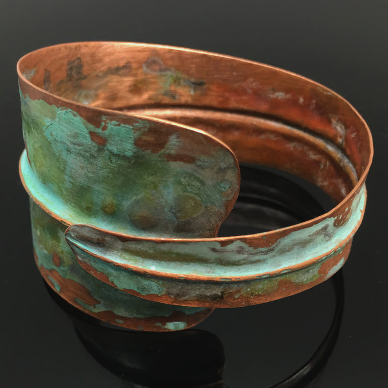 Formfolding Green Patina Copper Cuff - Nurit Niskala