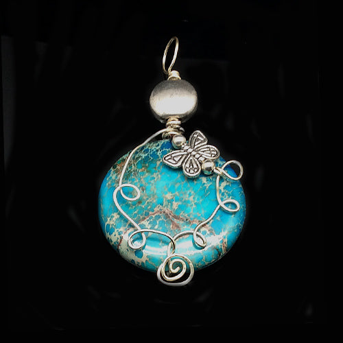 Genuine Turquoise Gemstone Pendants - Nurit Niskala