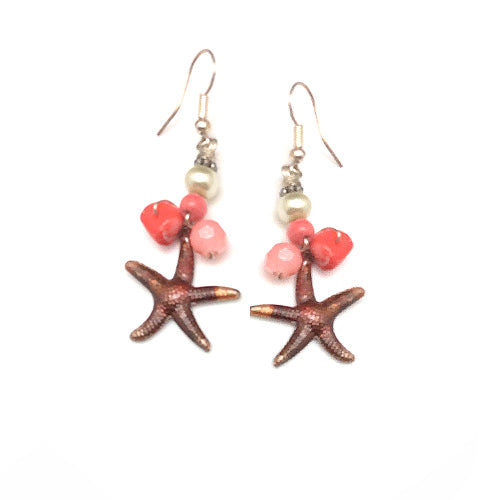 Coral Nautical Earrings - Nurit Niskala