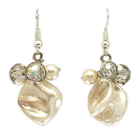 Champagne Cream Earrings - Nurit Niskala