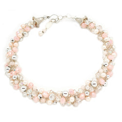 Soft Pink Crochet Necklace - Nurit Niskala