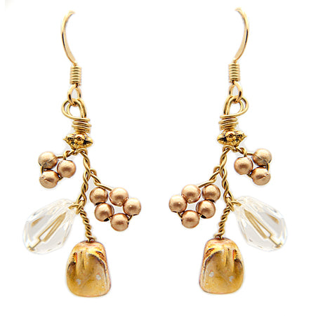 Gold Earrings - Nurit Niskala