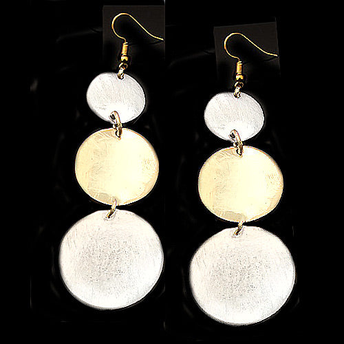 Tri-Circle Drop Earrings