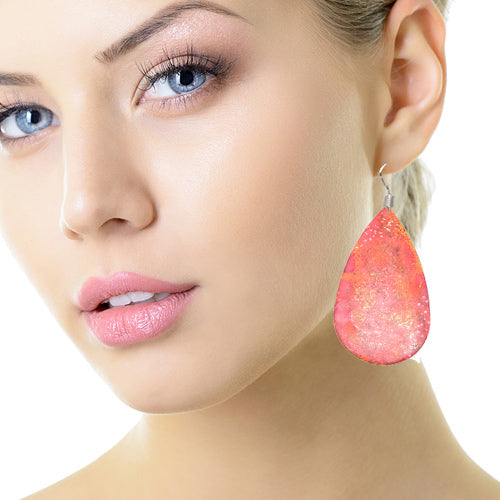 Enamel Paint Fire Drop Earrings