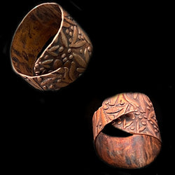 Flower Printed Copper Ring*
