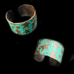 Star Turquoise Copper Ring*