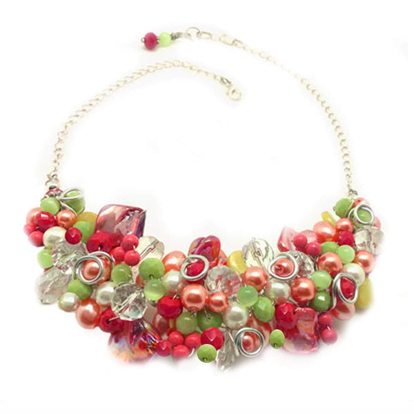 Coral Green Necklace - Nurit Niskala