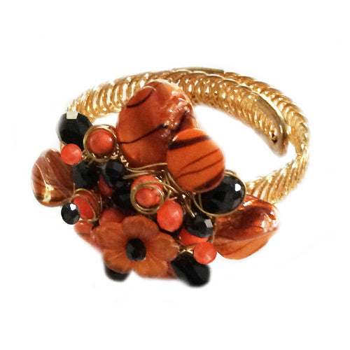 Orange Black Adjustable Bracelet*