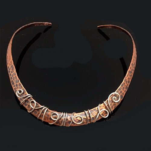 Copper U Choker - Nurit Niskala