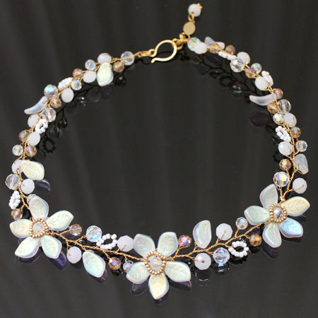 Precious Petals Iridescent Necklace - Nurit Niskala