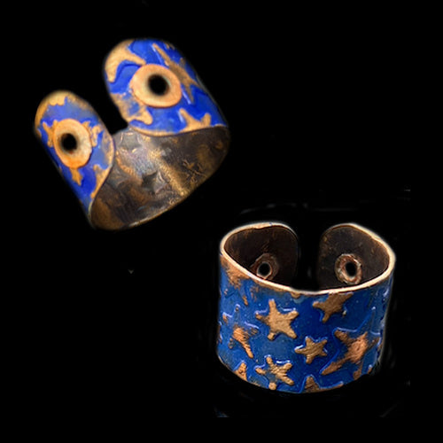 Stars Lapis Copper Ring*