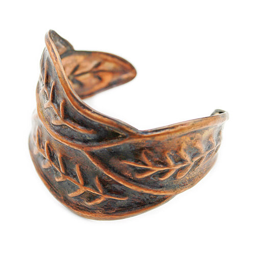 Pure Copper Leave Cuff - Nurit Niskala
