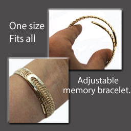 Gold Adjustable Bracelet - Nurit Niskala