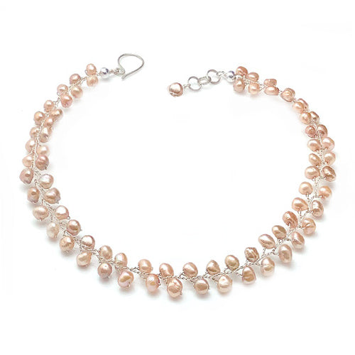 Peach Freshwater Pearls Set