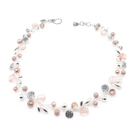 Peach Silver Necklace - Nurit Niskala
