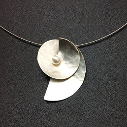 Small Silver Pearl Matte Necklace*