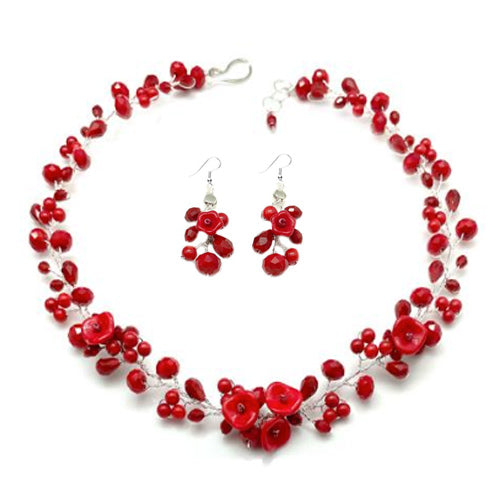 Bright Red Flowers Set