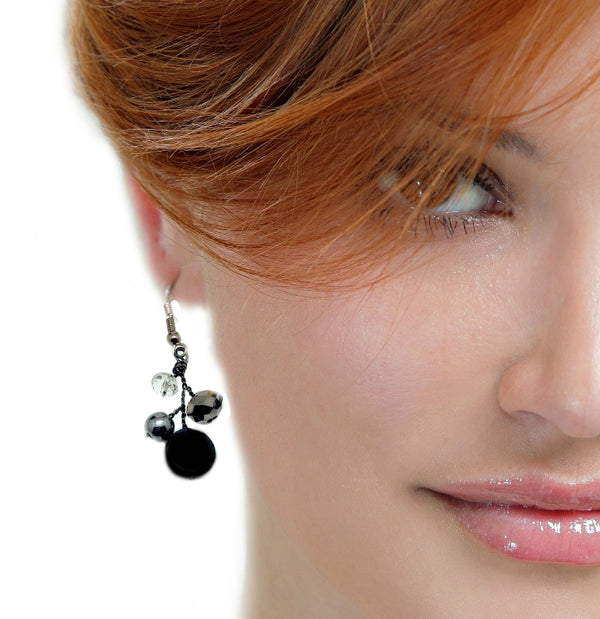 Black Grey Earrings - Nurit Niskala