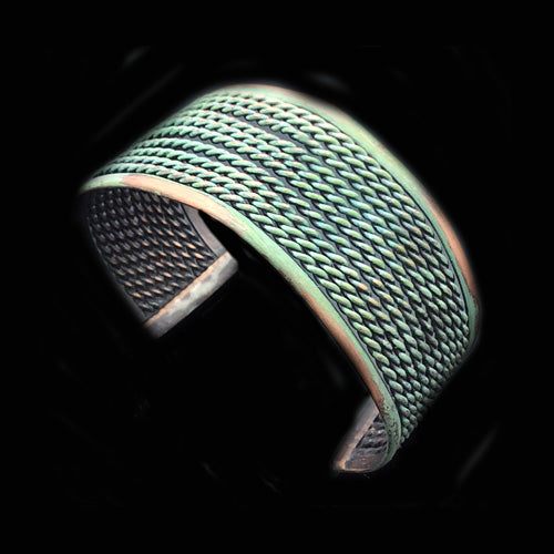 Twisted Green Patina Cuff