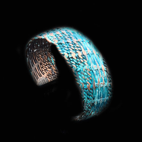 Turquoise Copper Woven Cuff
