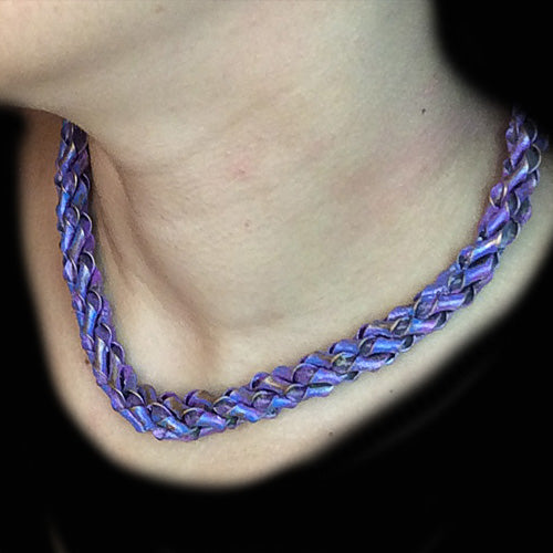 Purple Twisty Copper Choker*