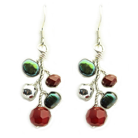 Red Green Earrings - Nurit Niskala