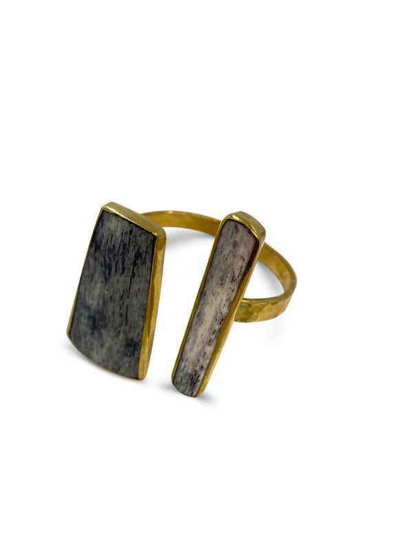 Bronze Grey Bone Cuff - Nurit Niskala