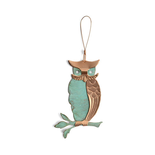 Owl Copper Ornament*