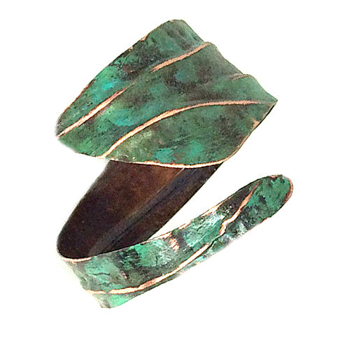 Vintage Green Copper Cuff *