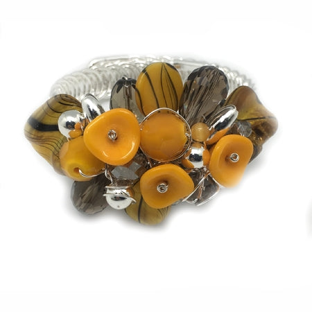 Yellow Grey Bracelet - Nurit Niskala