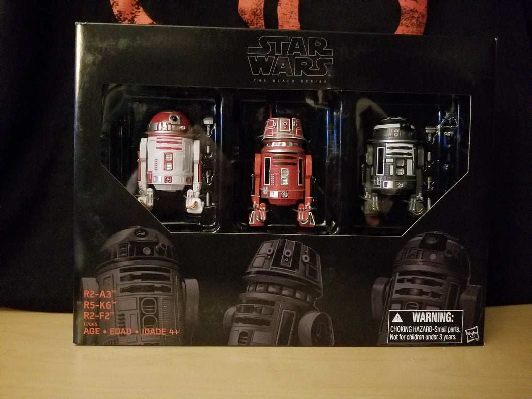 Astromech Droid 3-Pack (R2-A3, R5-K6 & R2-F2) - The Black Series