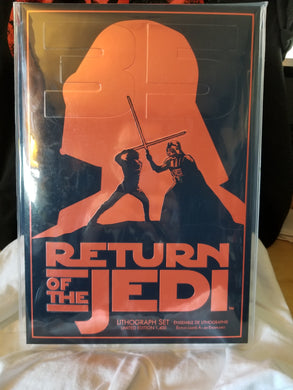 Return of the Jedi 35th Anniversary Lithographs from the Disney Store (MISB)