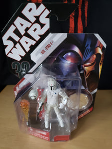 2006 Star Wars 30th Anniversary 77-07 - #15 Boba Fett Prototype 77-07 with silver coin