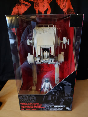 Imperial AT-ST Walker (vehicle) with AT-ST Driver - The Black Series