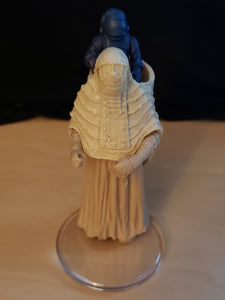 First Shot Prototype: Star Wars Hasbro Series 2002 Female Tusken Raider with Rare BLUE Child (POTF2 Saga)