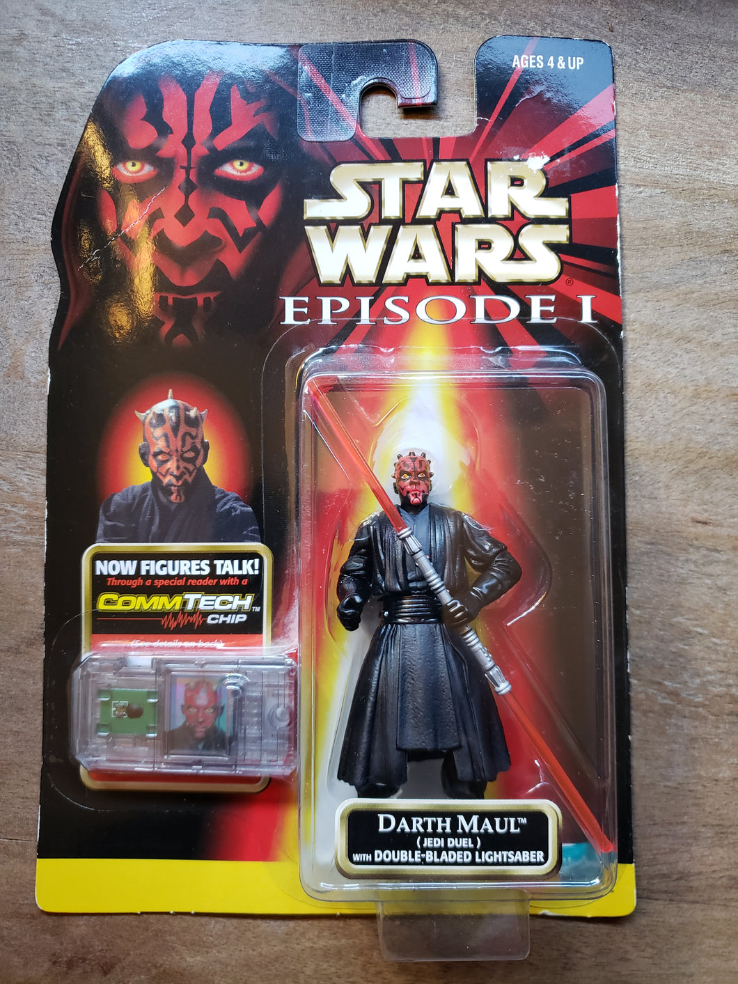 1998 Star Wars Episode I - Darth Maul with Double-Bladed Lightsaber
