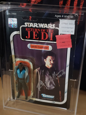1983 ROTJ Lando Calrissian (smiling) MOC - 65 A (Billy Dee Williams autograph)