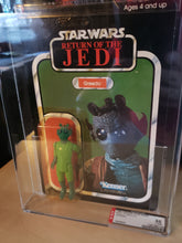 Load image into Gallery viewer, 1983 ROTJ Greedo MOC - 77 A (AFA 85)