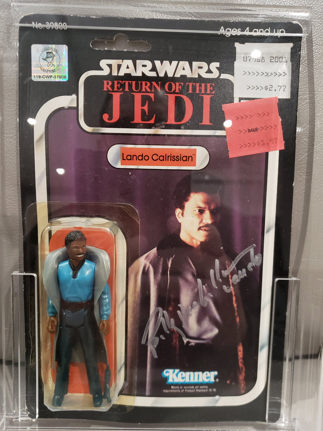 BILLY DEE WILLIAMS AUTOGRAPHED VINTAGE 1983 Star Wars ROTJ Lando Calrissian MOC (SMILING VARIANT) 65 A
