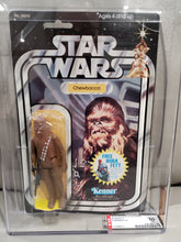 Load image into Gallery viewer, VINTAGE 1983 Kenner Star Wars Chewbacca 20 X MOC AFA 50