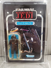 Load image into Gallery viewer, VINTAGE 1983 Kenner ROTJ Imperial Tie Fighter Pilot (UNPUNCHED) MOC 65 A