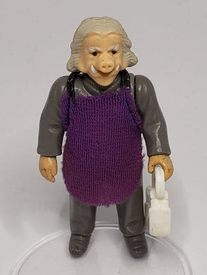 VINTAGE 1980 Kenner ESB Ugnaught (White hair) loose complete C9 (Light purple smock)