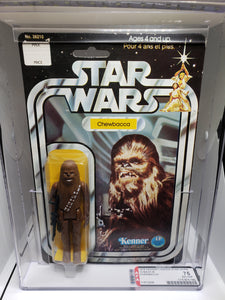 VINTAGE 1983 Kenner Star Wars Chewbacca 12B MOC (Canadian card) AFA 75