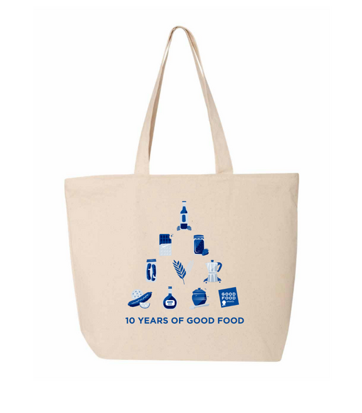 10 Years of Good Food Tote Bag
