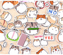 Load image into Gallery viewer, Kawaii Hamster Stickers - 40 pack