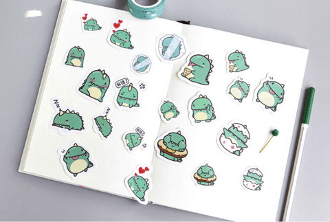 Cute Dino Stickers - 40 Pack