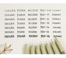 Load image into Gallery viewer, Sakura Micron Pens - 7 pack