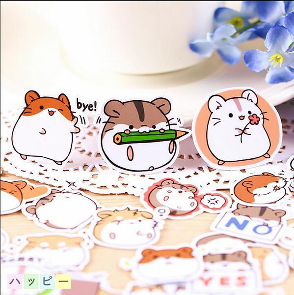 Kawaii Hamster Stickers - 40 pack